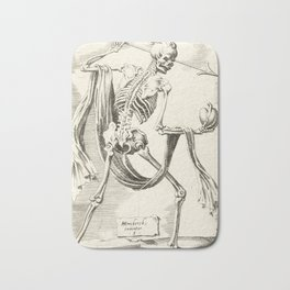 Vintage Skeleton Illustration Bath Mat