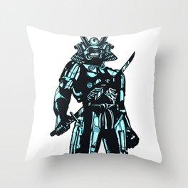 Cybersamurai Throw Pillow