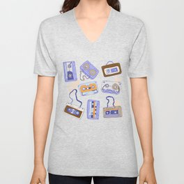 Audio cassette Unisex V-Neck