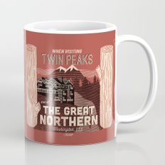 the Great Northern Hotel (Faux Canvas - rust) Coffee Mug