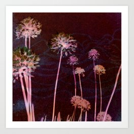 day glo: cosmic florals Art Print