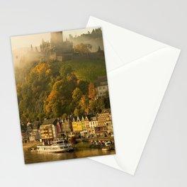 Impressive Reichsburg Castle Cochem Mosel River Rhineland Palatinate Germany Europe Ultra HD Stationery Cards