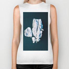 Lone, minimalist Iceberg from above - Landscape Photography Biker Tank
