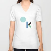 kim sy ok V-neck T-shirts featuring OK by .....