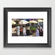 INDIA - Green Beans For Sale  Framed Art Print