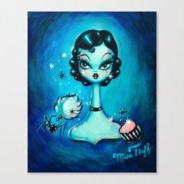 Noir Boudoir Girl - Painted Version Canvas Print
