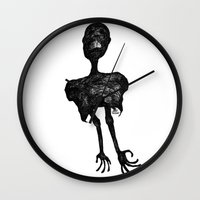 pain Wall Clocks featuring Pain by Alain Poncelet