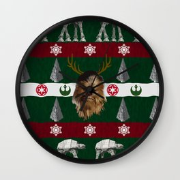 Chewdolph the Red-Nosed Wookiee Wall Clock