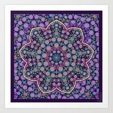 The Purple touch Art Print