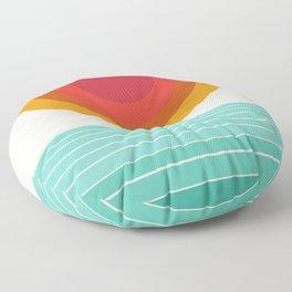 Totally Hot - 70s style retro throwback minimal sunshine beach socal cali 1970's Floor Pillow