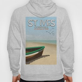 St Ives ,Cornwall ,beach travel poster, Hoody