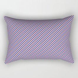 Light Lilac Blue Inclined Stripes Rectangular Pillow