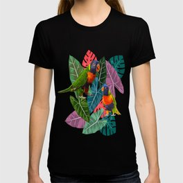 Parrots and Tropical Leaves T-shirt