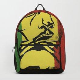 rasta man,vibration,jamaica,reggae,music,smoke,ganja,weed,pop art,portrait,wall mural,wall art,paint Backpack