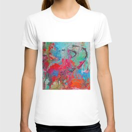 Heaven Rejoices Multi Colored Abstract Luke 15:7 T-shirt