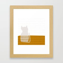Coit Cat Pattern 3 Framed Art Print
