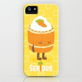 """Seriously """"Healthy"""" Carrot Cake iPhone Case"""