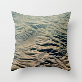 Amazing Earth - Wrinkled Mountains Throw Pillow