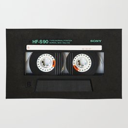 Classic retro sony cassette tape iPhone 4 4s 5 5c, ipod, ipad, tshirt, mugs and pillow case Rug