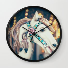 Pastel Horse II Wall Clock