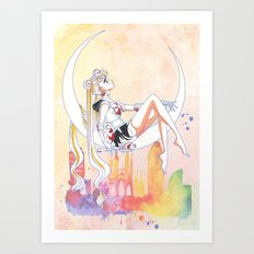 Can not Fight The Moonlight Watercolor Version Art Print