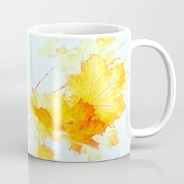 Yellow Maple leaves, Autumn Unfolds Coffee Mug