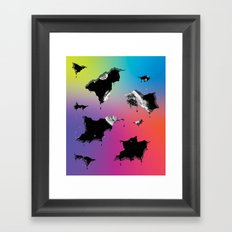 Cosmic Matter and the Neon Spectrum Framed Art Print