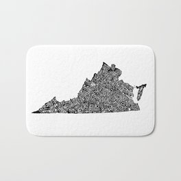 Typographic Virginia Bath Mat