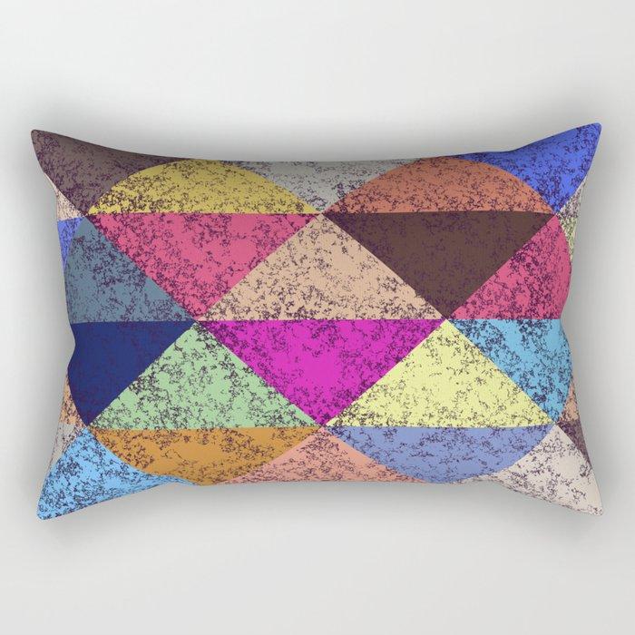 Color texture, Geometric background Rectangular Pillow