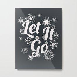 Let it go - papercut quote poster Metal Print