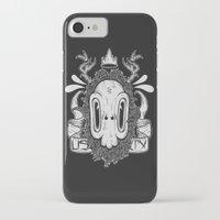 sasquatch iPhone & iPod Cases featuring Sasquatch Skull by Urban Sasquatch