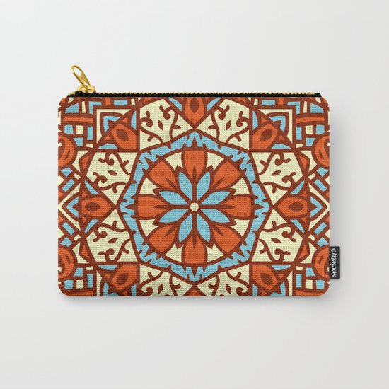 Abstract Mandala Flower Decoration 30 Carry-All Pouch