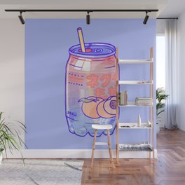 Peach Bubbles Wall Mural