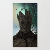 groot Canvas Prints featuring Groot by ssst