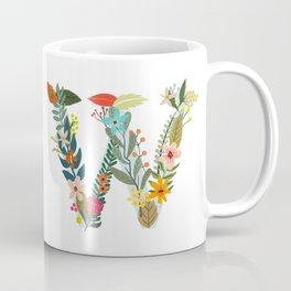 Monogram Letter W Coffee Mug