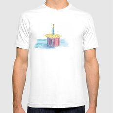 Happy Day Mens Fitted Tee SMALL White
