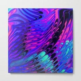 Blue Violet Dragon Wings Metal Print