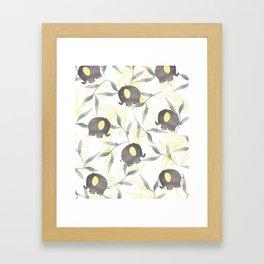 Tropical Baby Elephants Framed Art Print
