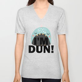 I'm DUN Monster Whale Unisex V-Neck