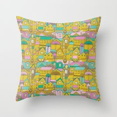 Pattern Project #2 / Happy Town Throw Pillow