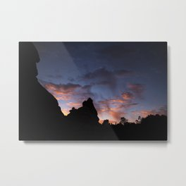 Sunrise Over Desert Rocks, Arches National Park, Windows District Metal Print
