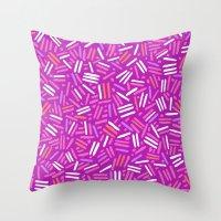 confetti Throw Pillows featuring confetti  by Ariadne