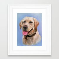 labrador Framed Art Prints featuring Labrador by OLHADARCHUK