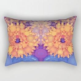 Vintage Flowers in the rain Rectangular Pillow