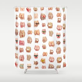 butts everywhere Shower Curtain