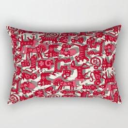 chinese animals red Rectangular Pillow