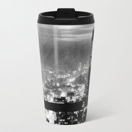Late night construction in NYC Travel Mug
