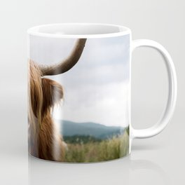 Scottish Highland Cattle in Scotland Portrait II Coffee Mug