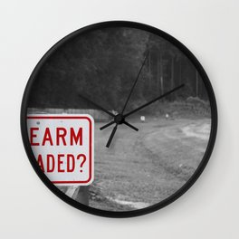 DON'T SHOOT Wall Clock