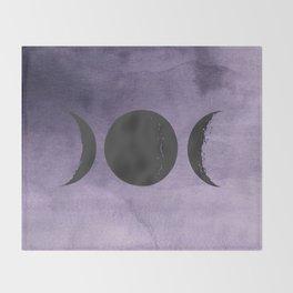 Triple Moon Goddess Throw Blanket